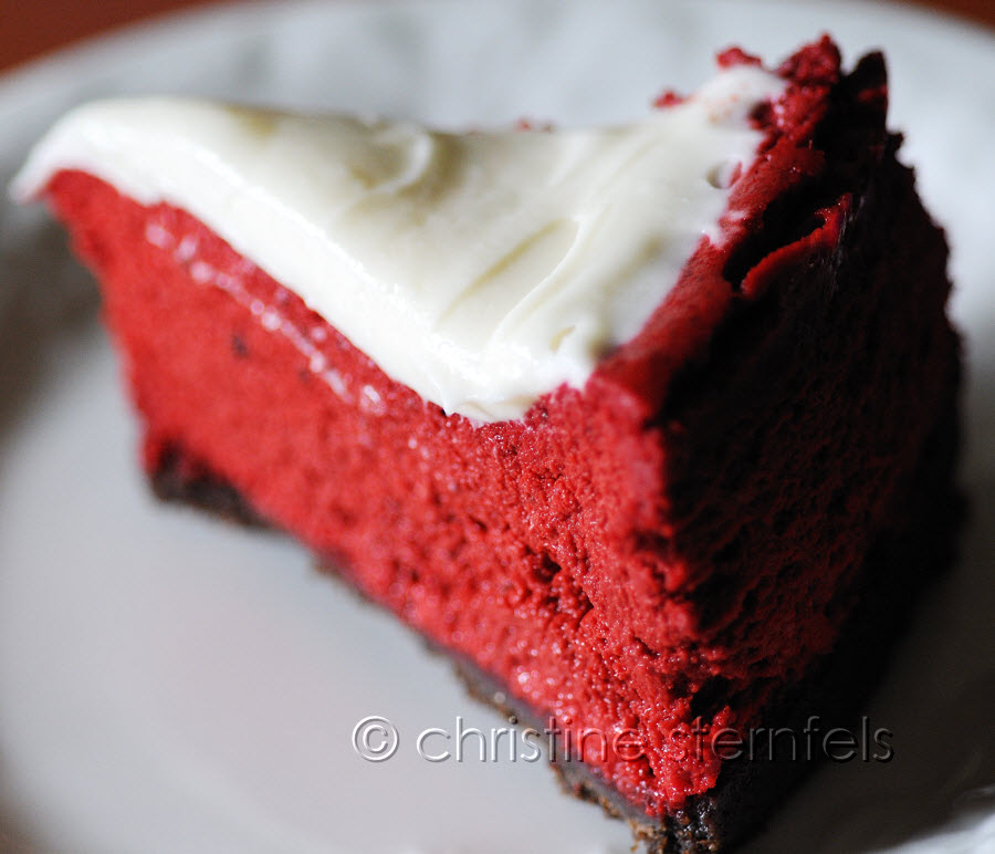 Red velvet cheese cake  - Copyright Christine Sternfels